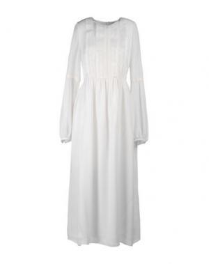 Платье длиной 3/4 ORLA KIELY. Цвет: белый