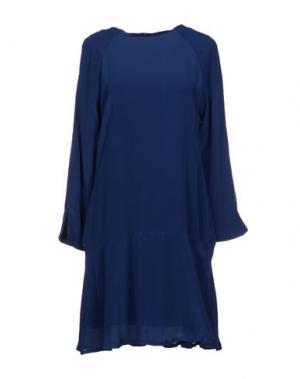 Короткое платье ANA PIRES. Цвет: темно-синий
