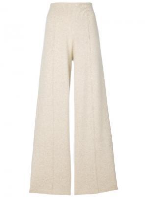 Широкие брюки Pringle Of Scotland. Цвет: телесный
