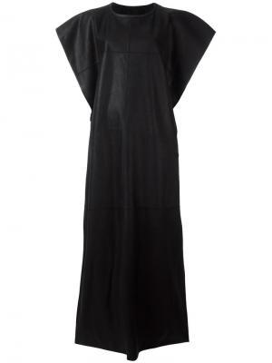 Платье с декоративной строчкой Gareth Pugh. Цвет: чёрный