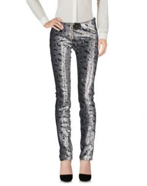 Повседневные брюки LEROCK. Цвет: серый