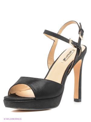 Босоножки на каблуке Alba. Цвет: черный