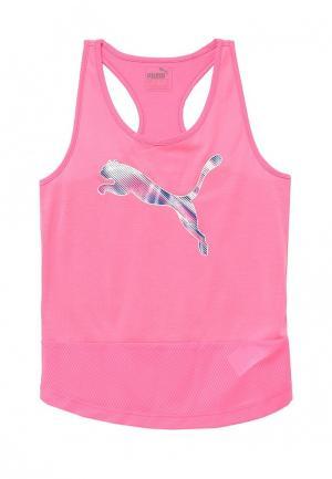 Майка спортивная Puma. Цвет: розовый