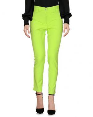 Повседневные брюки PAMELA HENSON. Цвет: кислотно-зеленый