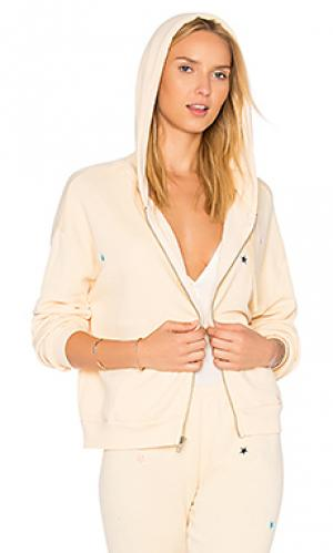 Свитшот на молнии с вышивкой starlet Wildfox Couture. Цвет: желтый