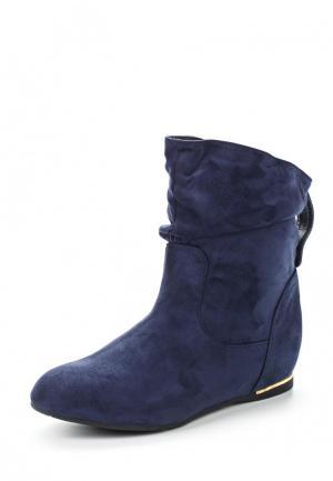 Полусапоги Ideal Shoes. Цвет: синий