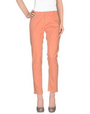 Повседневные брюки OSSO GOCCIA. Цвет: лососево-розовый