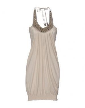 Короткое платье SETE DI JAIPUR. Цвет: бежевый