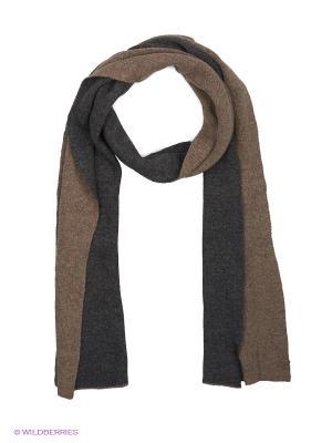 Шарф J Ploenes. Цвет: серо-коричневый, темно-серый