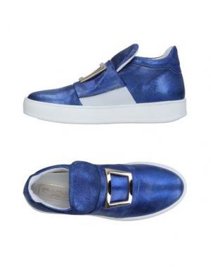 Низкие кеды и кроссовки SPAZIOMODA. Цвет: синий