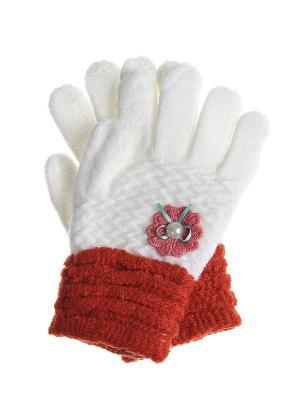 Перчатки детские Migura. Цвет: белый, оранжевый