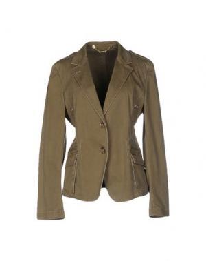 Пиджак CALVARESI. Цвет: зеленый-милитари