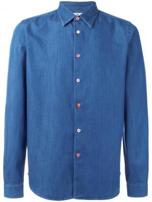 Джинсовая рубашка Ps By Paul Smith. Цвет: синий