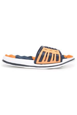 Шлепанцы MURSU. Цвет: синий, оранжевый