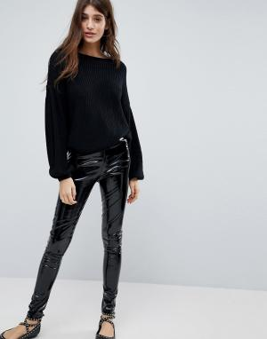Glamorous Виниловые леггинсы. Цвет: черный