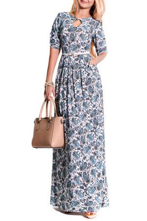 Платье FRANCESCA LUCINI. Цвет: анталия, голубой