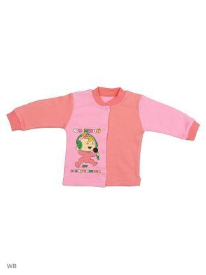 Кофта для новорожденных Bonito kids. Цвет: коралловый, розовый