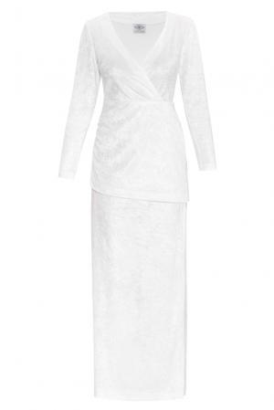 Велюровое платье 159377 Y.amelina. Цвет: белый