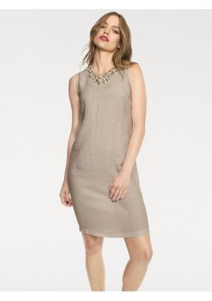 Платье Rick Cardona. Цвет: бежевый
