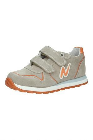 Кроссовки Naturino. Цвет: песочный, оранжевый, белый