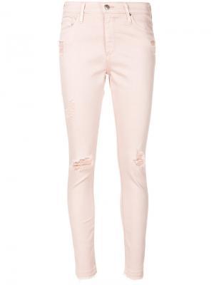 Ripped skinny jeans Ag. Цвет: розовый и фиолетовый