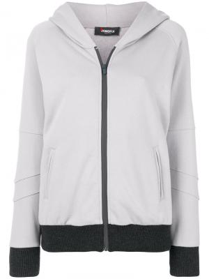 Zipped hoodie Jo No Fui. Цвет: серый