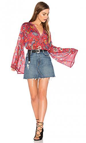 Блузка lovebird Spell & The Gypsy Collective. Цвет: красный