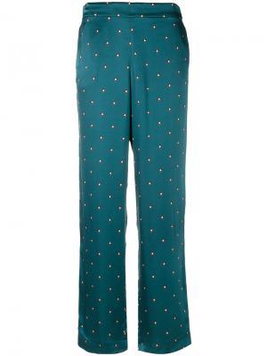 Пижамные брюки в горошек Asceno. Цвет: синий