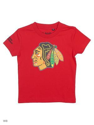 Футболка  NHL Blackhawks Atributika & Club. Цвет: красный