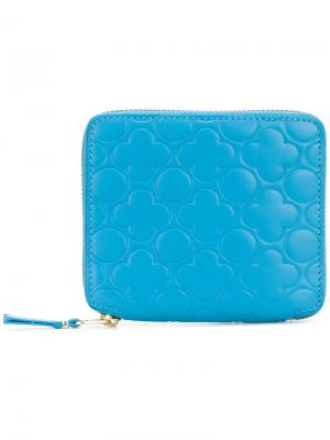Кошелек на молнии Comme Des Garçons Wallet. Цвет: синий