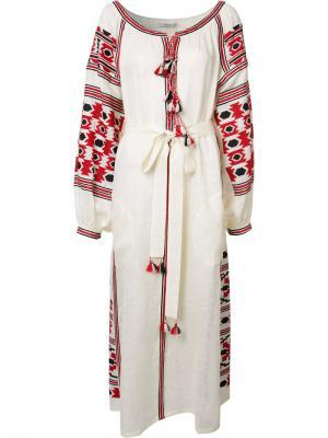 Платье с деревенском стиле Vita Kin. Цвет: белый