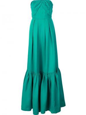Длинное платье Kimberly Zac Posen. Цвет: зелёный