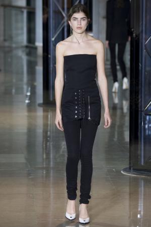 Платье-бюстье Anthony Vaccarello. Цвет: черный