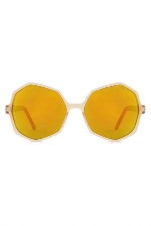 Солнцезащитные очки Komono. Цвет: gold