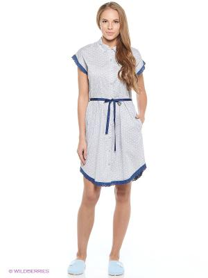 Ночная сорочка RELAX MODE. Цвет: белый, синий