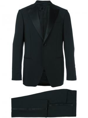 Классический строгий костюм Caruso. Цвет: чёрный