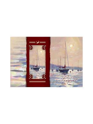 Обложка для паспорта Морской пейзаж Magic Home. Цвет: розовый