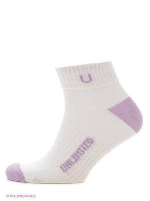 Носки спортивные 5 пар Unlimited. Цвет: белый, лиловый