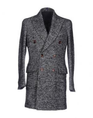 Пальто DOMENICO TAGLIENTE. Цвет: темно-синий