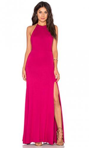 Макси платье nikki De Lacy. Цвет: розовый