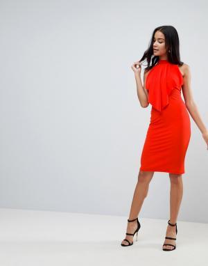 Love Платье миди. Цвет: красный