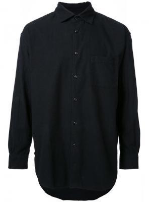 Фланелевая рубашка свободного кроя Gold. Цвет: чёрный