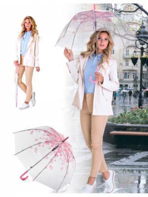 Зонт-трость НЕЖНОСТЬ BRADEX. Цвет: прозрачный