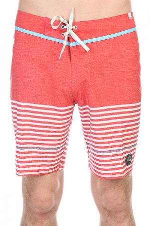 Шорты пляжные  Eastsidestripe Mo Biarritz Stripe B Quiksilver. Цвет: белый,красный