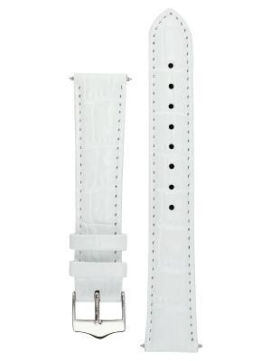 Элегантный ремешок для часов из кожи теленка с фактурой под аллигатора. Ширина от 14 до 24 мм. Signature. Цвет: белый