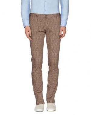 Повседневные брюки EREDI RIDELLI. Цвет: коричневый