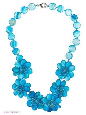 Колье Happy Garnets. Цвет: голубой