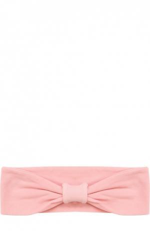Эластичная повязка на голову с бантом Deha. Цвет: розовый