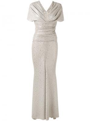 Платье Montano Talbot Runhof. Цвет: телесный