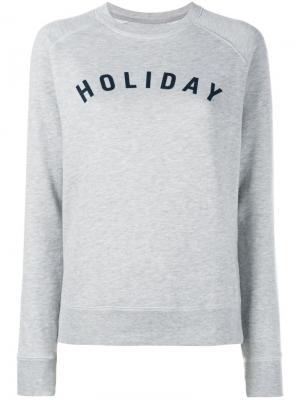 Толстовка с принтом-логотипом Holiday. Цвет: серый